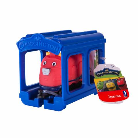 CHUGGINGTON –  набор «паровозик Джекман с гаражом»