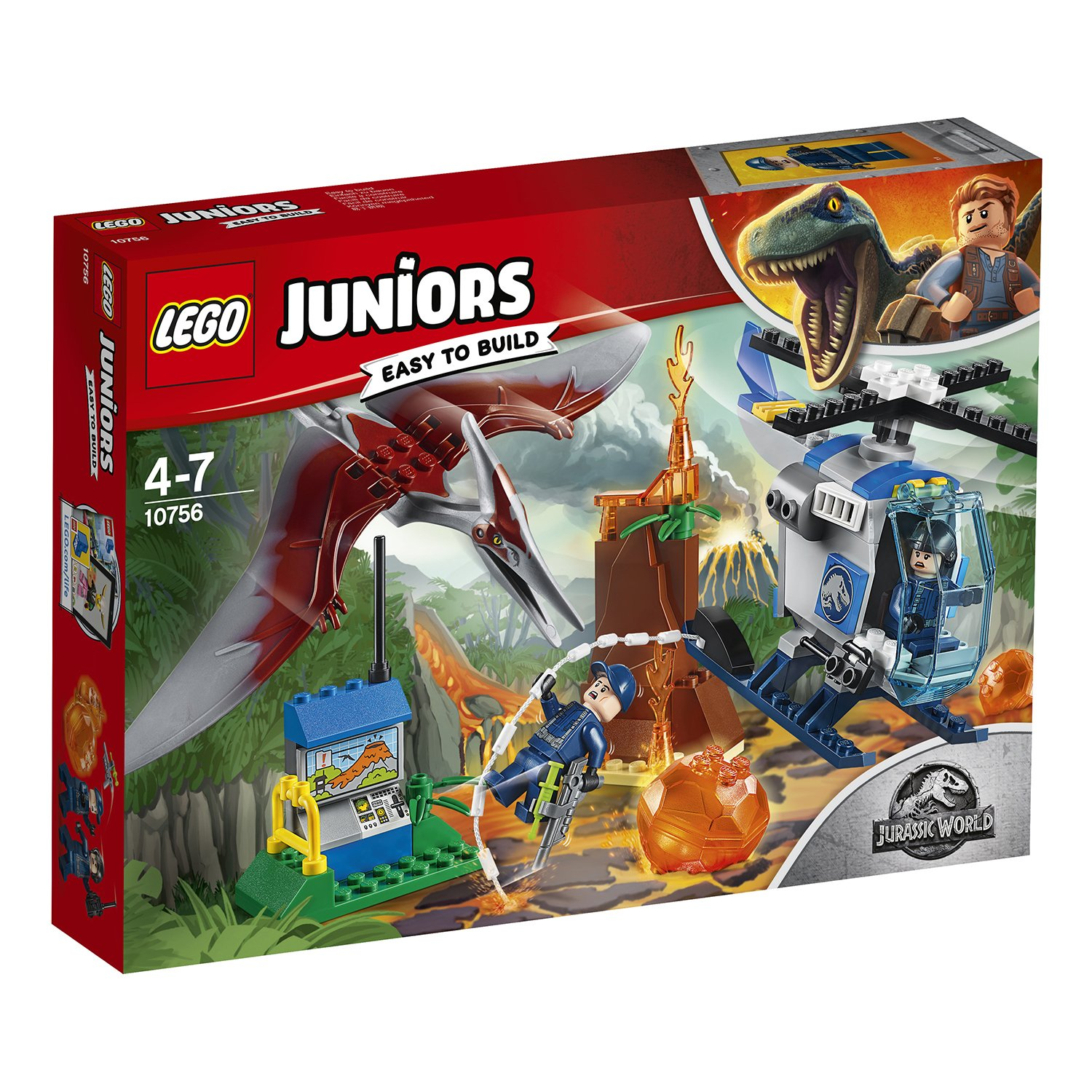 "Конструктор LEGO Juniors Jurassic World ""Побег птеранодона"""