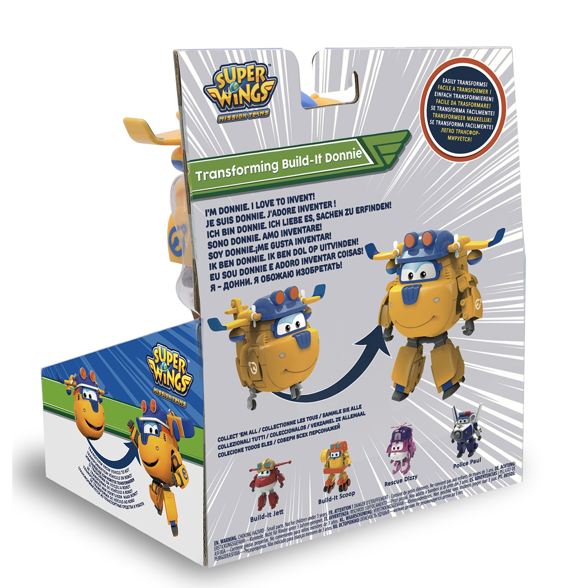 Трансформер Super Wings Донни (команда Строителей)